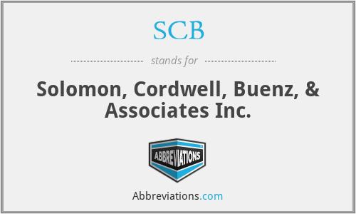 SCB - Solomon, Cordwell, Buenz, & Associates Inc.