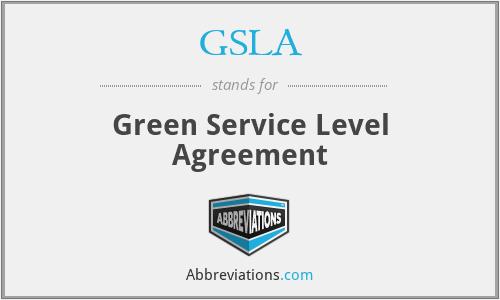 GSLA - Green Service Level Agreement