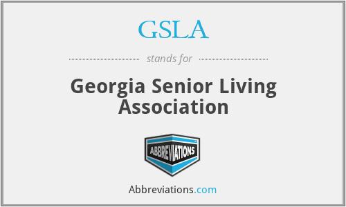 GSLA - Georgia Senior Living Association