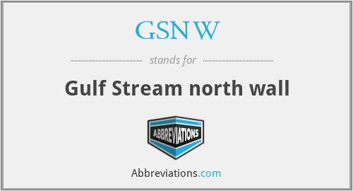 GSNW - Gulf Stream north wall