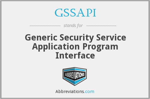What does GSSAPI stand for?