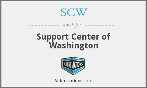 SCW - Support Center of Washington