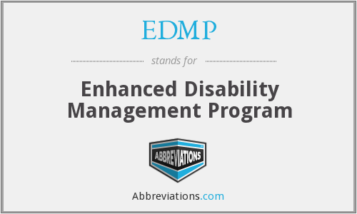 What does EDMP stand for?