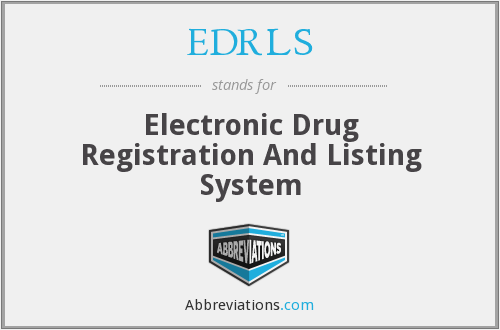What does EDRLS stand for?