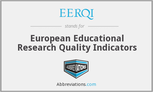 What does EERQI stand for?