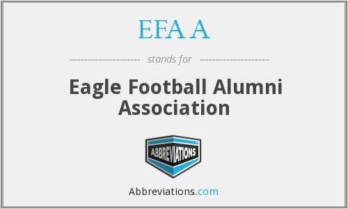 What does EFAA stand for?