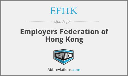 EFHK - Employers Federation of Hong Kong