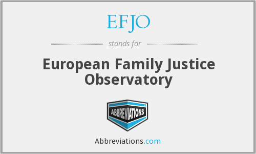 What does EFJO stand for?