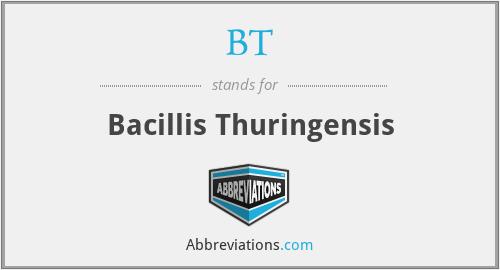 BT - Bacillis Thuringensis