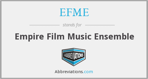 What does EFME stand for?