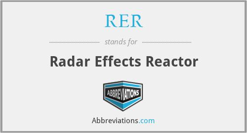 RER - Radar Effects Reactor