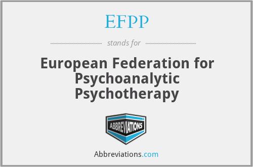 EFPP - European Federation for Psychoanalytic Psychotherapy