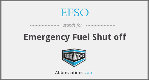 What does EFSO stand for?