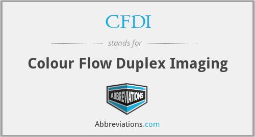 CFDI - Colour Flow Duplex Imaging