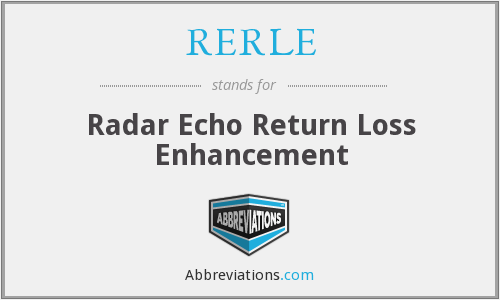 RERLE - Radar Echo Return Loss Enhancement