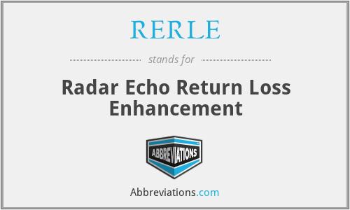 RERLE - Radar Echo Return Loss Enhancement