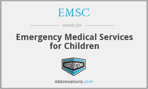 What does EMSC stand for?