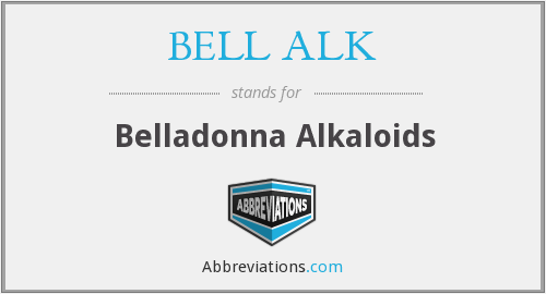 What does BELL ALK stand for?