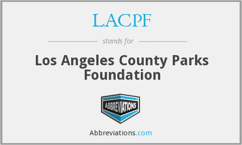 What does LACPF stand for?