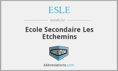 What does ESLE stand for?