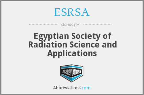 What does ESRSA stand for?