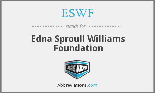 What does ESWF stand for?