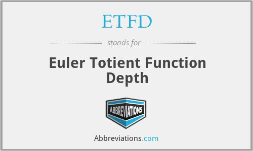 ETFD - Euler Totient Function Depth