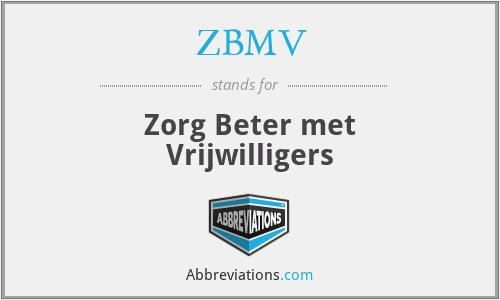 ZBMV - Zorg Beter met Vrijwilligers