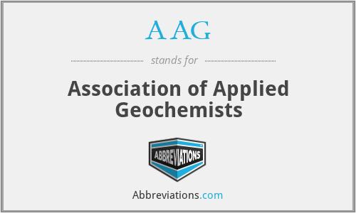 AAG - Association of Applied Geochemists