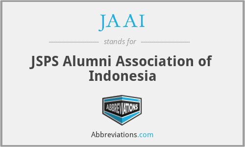 JAAI - JSPS Alumni Association of Indonesia