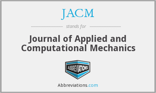 What does JACM stand for?