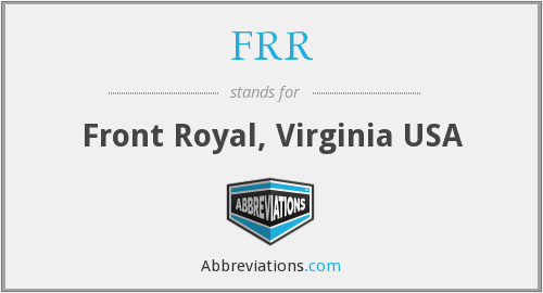 FRR - Front Royal, Virginia USA