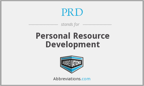 PRD - Personal Resource Development