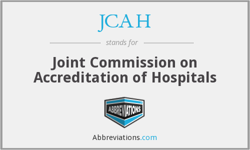 What does JCAH stand for?