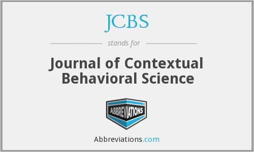 JCBS - Journal of Contextual Behavioral Science