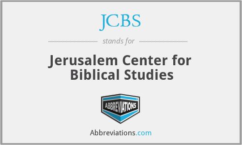 JCBS - Jerusalem Center for Biblical Studies