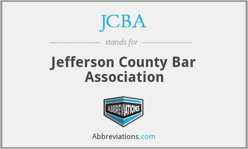 JCBA - Jefferson County Bar Association