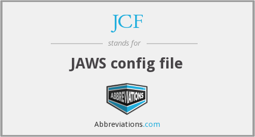 JCF - JAWS config file