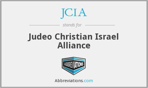 JCIA - Judeo Christian Israel Alliance
