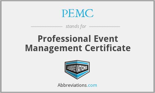 PEMC - Professional Event Management Certificate