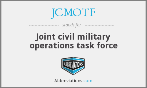 What does JCMOTF stand for?