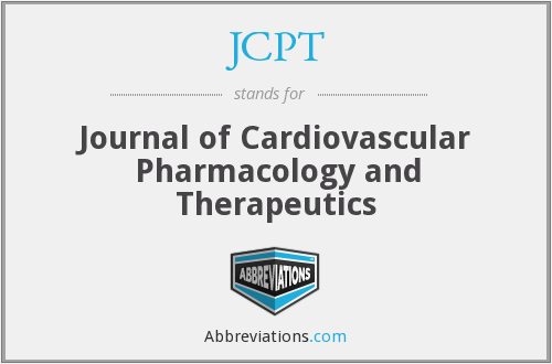 JCPT - Journal of Cardiovascular Pharmacology and Therapeutics