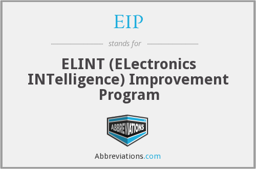 EIP - ELINT Improvement Program