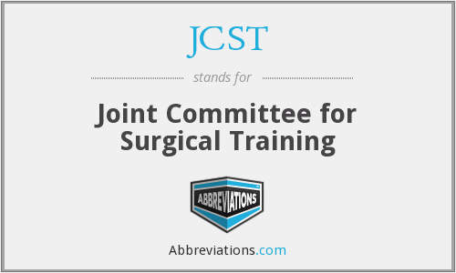 What does JCST stand for?