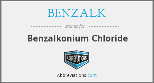 What does BENZALK stand for?