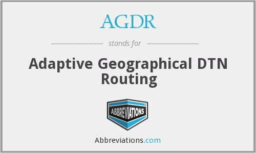 What does AGDR stand for?