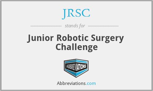 JRSC - Junior Robotic Surgery Challenge