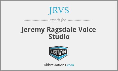 JRVS - Jeremy Ragsdale Voice Studio