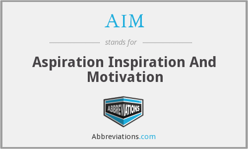 AIM - Aspiration Inspiration And Motivation
