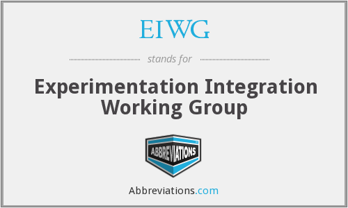 What does EIWG stand for?